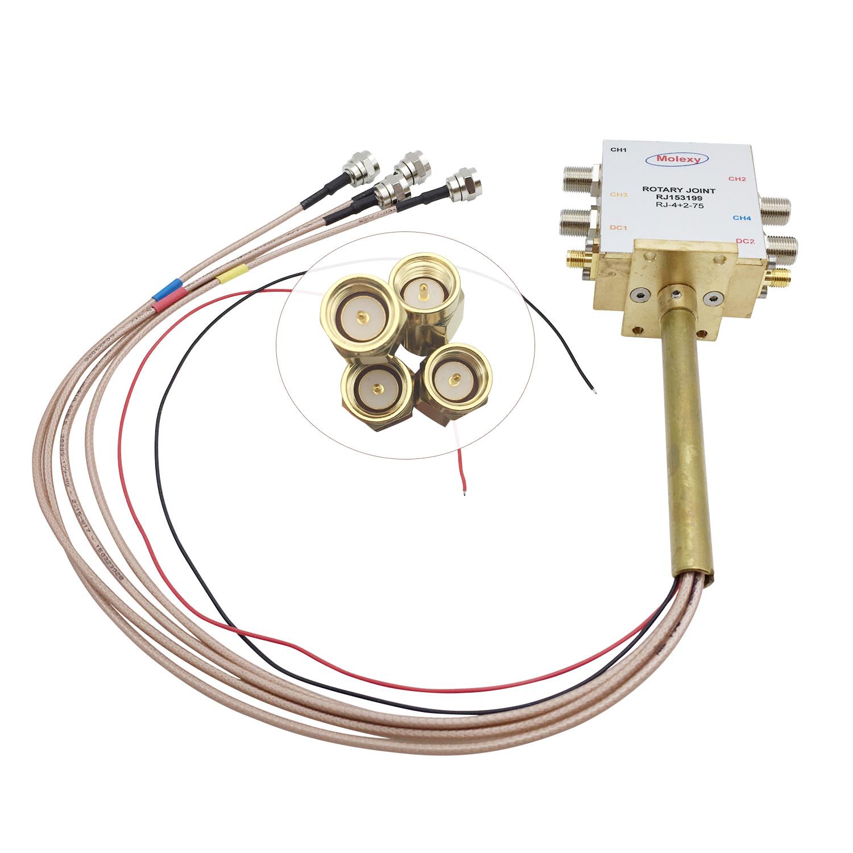 四路同轴旋转关节RJ153199 [DC to 2.2 GHz] SMA